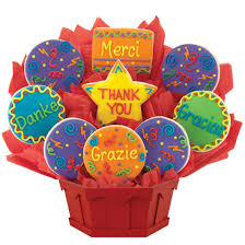 cookie baskets delivery many thanks cookie bouquet cookies by design