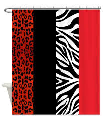 popular bathroom accessories curtain buy cheap bathroom memory home decorative red leopard and zebra animal print fabric shower curtain fashion polyester bathroom accessories
