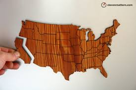 United States Map Puzzle by Steven Mattern Design Build Map Puzzles