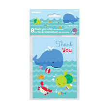 under the sea thank you cards 1st birthday party supplies u0026 baby