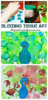 bleeding tissue paper art peacock arts and crafts for kids