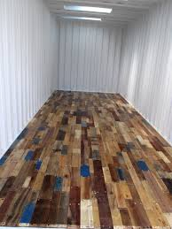 recycled pallet floor for finishing basement with a nice