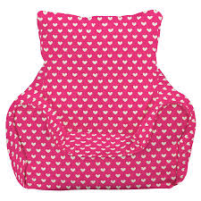 children u0027s bean bag chair pink hearts