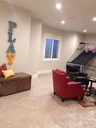 finished basement walls are agreeable gray by sherwin williams