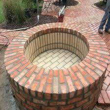 Brick Patio Diy Brick Fire Pit Pictures U2013 Jackiewalker Me