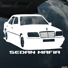 mercedes decal decal mercedes sedan mafia buy vinyl decals for car or interior
