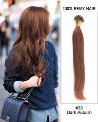 strand by strand hair extensions 33 auburn nail tip u tip 100 remy hair keratin hair