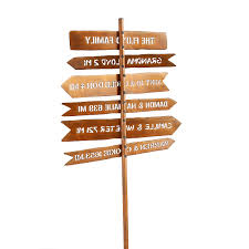personalized family member signpost custom sign outdoor decor