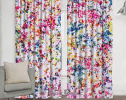 Pink And White Curtains Shibori Curtains Etsy