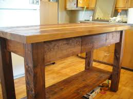 wood island kitchen wood kitchen island solid plans reclaimed images cart cherry