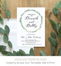 wedding brunch invitation brunch bubbly invitation template printable post wedding brunch