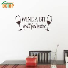 wine a bit you ll feel better wine a bit you ll feel better wall stickers kitchen wall tile