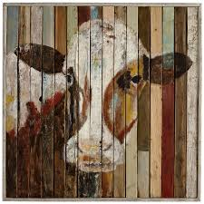 pier one home decor belle of the farm cow wall art pier 1 imports