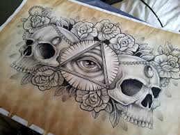 tattoo gallery chest pieces illuminati and skull chest piece tattoo design by kirstynoelledavies