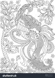 hand drawn bird coloring page stock vector 298186910 shutterstock