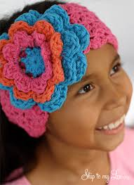 crochet flower headband crochet flower headband skip to my lou