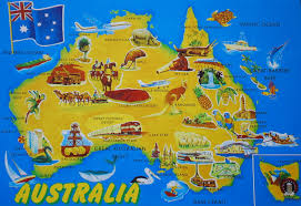 Australian Map Largest Most Detailed Australia Map And Flag U2013 Travel Around The