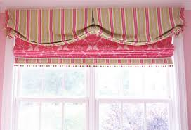custom valance and roman shade for girls room
