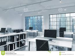 Loft Modern by Workplaces In A Bright Modern Loft Open Space Office Tables Are