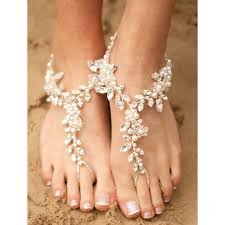 arianna cherry blossom pearl crystal and diamante barefoot
