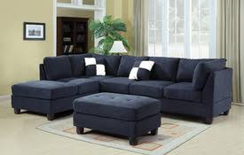Navy Blue Sectional Sofa Microfiber Sectional Sofa Comfyco Furniture