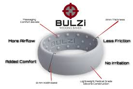 most comfortable wedding band bulzi massaging comfort fit silicone wedding ring