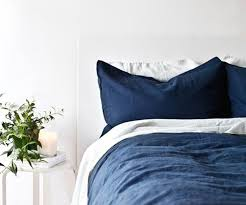 Blue Linen Bedding - trend to watch linen bedding