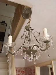 crystal chandelier lighting upcycled ceiling light in olive annie