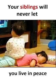 Funny Sibling Memes - siblings sit on you slap laughter by sdl