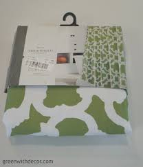 green with decor u2013 make window valances from a shower curtain