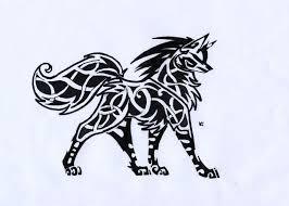 celtic wolves on tribal wolf deviantart