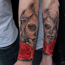 150 most frightening day of the dead tattoos 2017 collection
