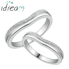wedding ring sets for women hammered finish heart promise rings set for women and men