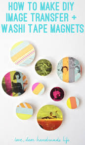 washi tape diy how to make diy image transfer and washi tape magnets dear