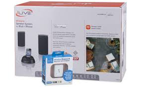ilive wireless speaker system with bluetooth adapter u0026 remote