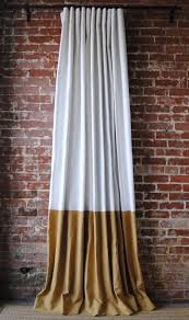 color block drapery panel a classic linen drape with color block