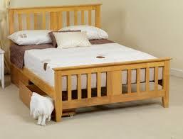 Wooden Framed Beds Sweet Dreams Kestrel 5ft King Size Oak Wooden Bed Frame