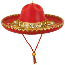 feliz navidad sombrero musical ornament keepsake ornaments