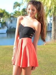 minidress black slit cutout back strapless sweetheart top corset
