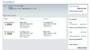 American Baggage Fees Miami To Las Vegas Cheap 183 Roundtrip American Airlines