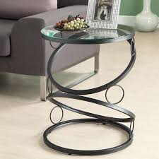 Glass End Tables For Living Room End Tables Designs Modern Black Metal End Table Glass Side
