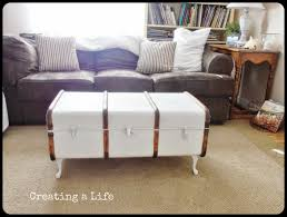 creating a life vintage trunk coffee table