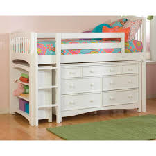 windsor white twin low loft storage bed with wakefield 7 drawer