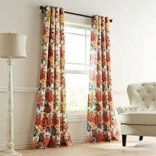 Orange Patterned Curtains Curtains Window Treatments Drapes U0026 Curtain Panels Pier 1 Imports