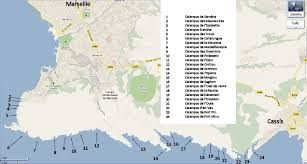 marseilles map marseille calanques travel and tourism in provence