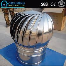 Roof Fan by Low Cost Stainless Steel Wind Driven Turbine Air Ventilator