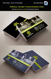 personal trainer fitness business cards template photo credit