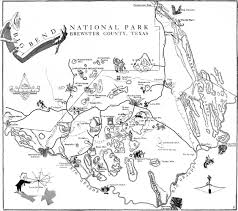 Texas State Park Map by Texas Bureau Of Economic Geology The Big Bend Of The Rio Grande