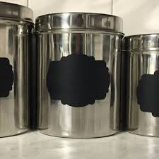 stainless kitchen canisters best chalkboard canisters products on wanelo