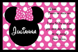 minnie mouse thank you cards custom minnie mouse birthday party invitations personalized